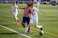 PERALADA, ESPANA - FEBRERO 3: En el partido entre el CF Peralada-Girona B y FC Barcelona B de la Segunda División B Grupo 3 2018-2019  en el Municipal de Peralada el 3 de Febrer del 2019 en Peralada, Espana. (Photo:Albert Geli)